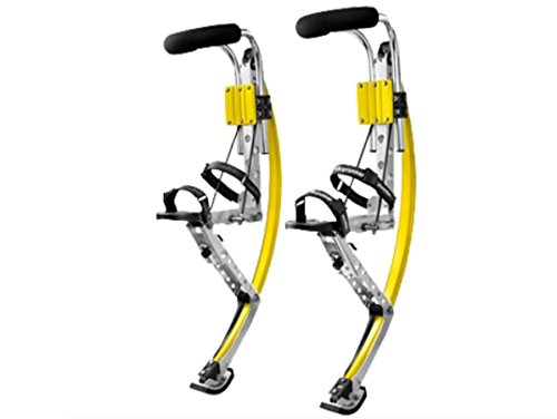 Skyrunner Adult Kangaroo Shoes Jumping Stilts Fitness Exercise (200-242lbs/90~110kg) Bouncing Shoes (Yellow)