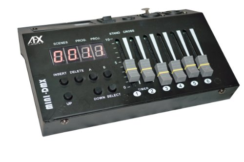 AFX DC54DMX - Controllore DMX a 54 canali, colore: Nero