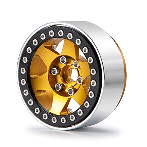 UGUTER ZLD SCX10 1/2 / 4PCS 1.9'Cuento de Rueda de Metal de Rueda de beadlock de Beadlock para 1:10 RC Crawler SCX10 Accesorios (Color : 1PCS)