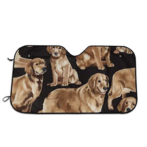 Golden Retriever Hond Auto Raam Schaduw Houd Voertuig Koel Bescherm Uw Auto tegen Zon Hitte & Glare Beste UV Ray Visor Protector