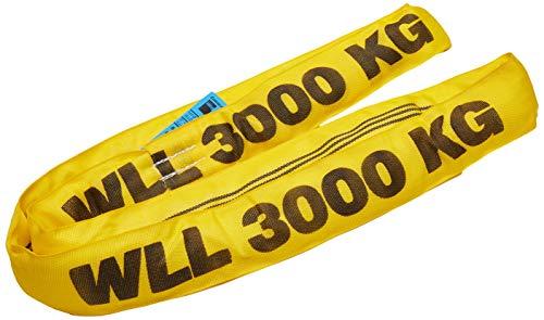 Braun 30021RS Rundschlinge 3000 kg Tragkraft, 2 m Umfang, endlos mit Polyesterkern, gelb
