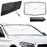 Sonnenblende Auto Frontscheiben Faltbarer,Auto Windschutzscheibe Sonnenschirm,Universal Sonnenschutz Regenschirm für die meisten Autos und SUV (M_120CM*65CM)