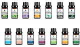 Pursonic 100% Pure Essential Aromatherapy Oils Gift Set,10ML (14 Pack Blends)
