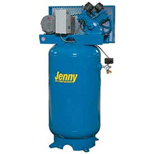 Jenny G5A-60V Single Stage Vertical Corded Electric Powered Stationary Tank Mounted Air Compressor with G Pump, 60 Gallon Tank, 3 Phase, 5 HP, 460V