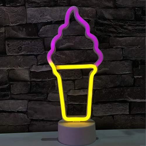 Paneles de luz inteligentes Luz Nocturna de Neón LED con Lámpara de Luz de Neón Base Interruptor Push Alimentado Por Batería/USB para Iluminación Interior Y Decoración Lámpara de pared ( Color : K )