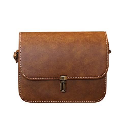 Dorical Damen-Handtasche Damen Umhängetasche 20x6x17cm Handtasche Schultertasche Tragetasche Taschen Handtaschen/Crossbody Schultertasche Mode Handtasche für Frauen(Braun)