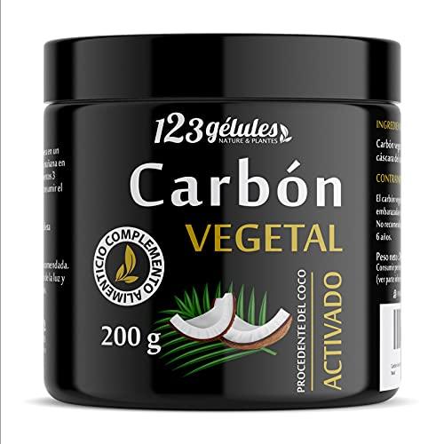 Carbón Vegetal Activado procedente del coco polvo 200 g