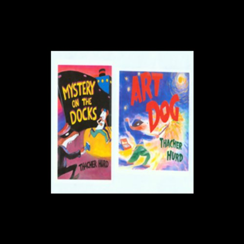 'Art Dog' and 'Mystery on the Dock' audiobook cover art