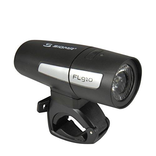 SIGMA Uni FL910 batterij LED koplamp, zwart, One Size