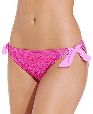 Hula Honey Womens Crochet Side Tie Swim Bottom Separates
