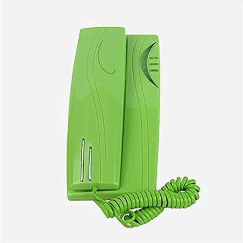 VERDELZ Teléfono Fijo De Línea Fija Teléfono con Cable Trimline con Indicador De Llamada Función De Pausa De Silencio Mesa Y Teléfono De Pared para El Hogar/Hotel/Oficina