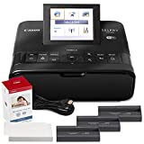 Canon SELPHY CP1300 Compact Photo Printer (Black) with WiFi and Accessory Bundle w/Canon Color Ink...