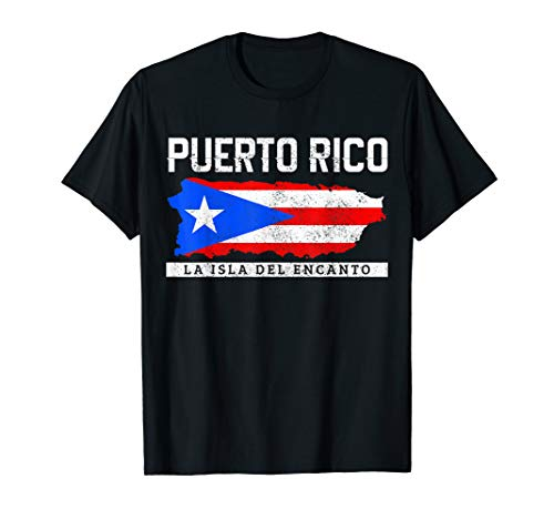 Puerto Rico Flag Island Map Puerto Rican Pride Gift T-Shirt