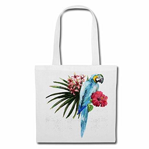 sac à bandoulière PARROT FLEURI Lifestyle Mode STREETWEAR HIPHOP SALSA LEGENDARY Sac Turnbeutel scolaire en blanc