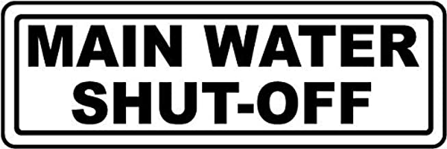 Traffic Signs - Main Water Shut-Off Sign 10 x 7 Aluminum Sign Street Weather Approved Sign 0.04 Thickness