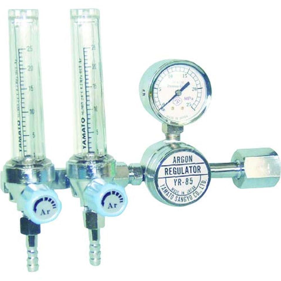 食い違い鋭く列挙する二連式流量計付アルゴン用圧力調整器 YR-85F2 YR85F2