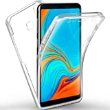 NewTop - Carcasa para Samsung Galaxy A7/A8/A9/2018, funda Crystal Case de TPU silicona gel PC protección 360 ° frontal retro completa