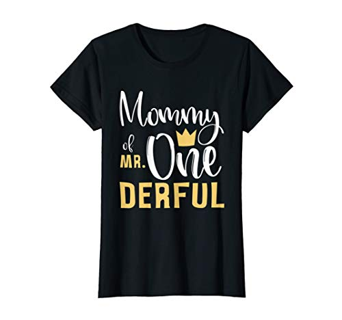 Womens Mommy of Mr Onederful 1st Birthday First One-Derful...