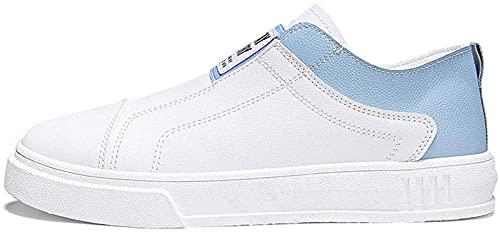 CPBY Zapatos de conducción de aire de respiración antideslizante para hombre Low top Leisure Zapatillas de moda (9.5, azul)