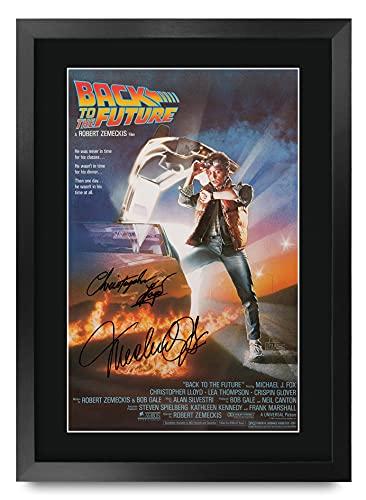 HWC Trading Back To The Future A3 Incorniciato Firmato Regalo Visualizzazione delle Foto Print Immagine Autografo Stampato per Christopher Lloyd Michael J Fox Gli Appassionati di Cinema