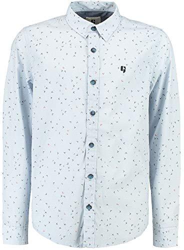 Garcia Jungen Hemd Langarm festlich Baumwolle Anzughemd, Größe:164/170, Farbe:White