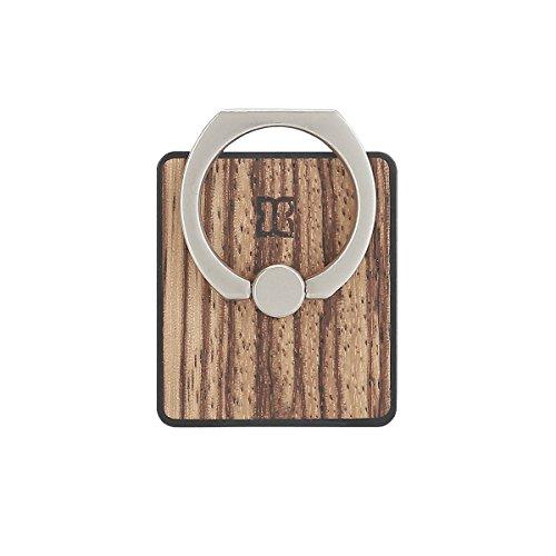 【日本正規代理店品】Man & Wood 天然木スマートリング Zebrano 落下防止 ホルダー スタンド I9761