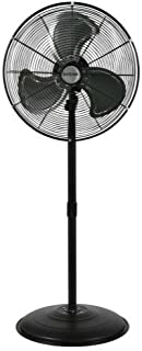 Hurricane Stand Fan - 20 Inch | Pro Series | High Velocity | Heavy Duty Metal Stand Fan for Industrial, Commercial, Residential, and Greenhouse Use - ETL Listed, Black