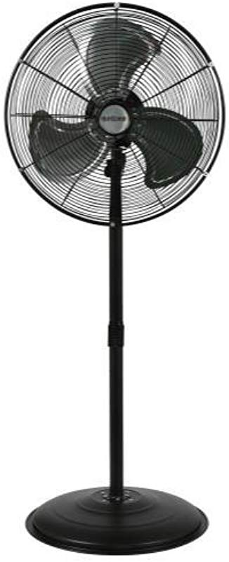 Hurricane Stand Fan 20 Inch Pro Series High Velocity Heavy Duty Metal Stand Fan For Industrial Commercial Residential And Greenhouse Use ETL Listed Black