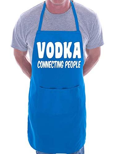 Mesllings wodka aansluiten drankjes BBQ koken grappige nieuwigheid schort blauw