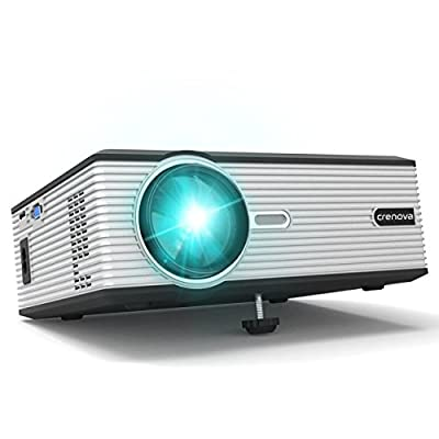 Crenova XPE700 Pico Video DLP Projector Mini Projector WiFi Connection with iPhone Smartphone iPad tablet for Home Outdoor Backyard Cinema Theather