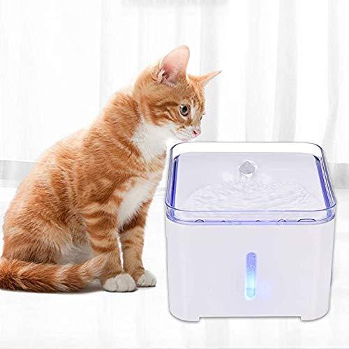Smart mute Cat Water Fountain 2L Pet Drinken Dispenser met LED-verlichting Automatische Water Feeder Met Filters voor kat