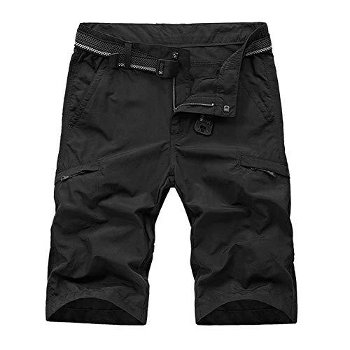 donhobo Mens Quick Dry Cargo Shorts Durable Waterproof Hiking Camping Pants Multi-pocket Casual Sports Shorts