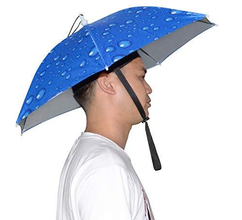 NEW-Vi Umbrella Hat, 25 inch Hands Free Umbrella Cap for Adults and Kids, Fishing Golf Gardening Sunshade Outdoor Headwear
