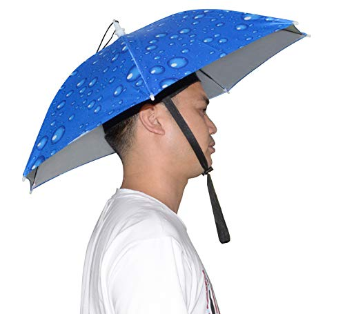 NEW-Vi Umbrella Hat Adult and Kids Folding Cap for Beach Fishing Golf Party Headwear