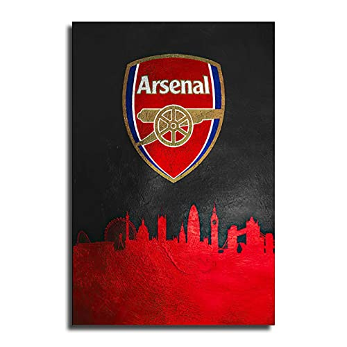 TROVACI Arsenal Canvas Art Poster and Wall Art Picture Print Modern Classroom Kitchen Family Bedroom Room Decor Boys Women Gift Posters 08x12inch(20x30cm)