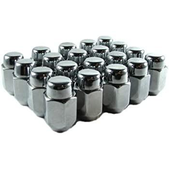 EZAccessory 24 Lug Nuts Solid 1-Piece Acorn 12x1.5 Thread Size 13//16