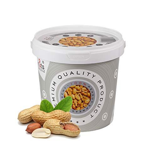 ''PuNuts'' Mantequilla de Cacahuete, Textura Crujiente, Tostados En Seco, 100% Natural Peanut Butter 1kg ( Mantequilla de Cacahuete)
