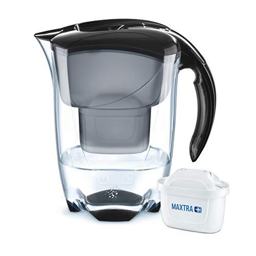 BRITA Wasserfilter Elemaris schwarz, inkl. 1 MAXTRA+ Filterkartusche – das Premium-Modell zur zuverlässigen Reduzierung von Kalk und Chlor im Leitungswasser