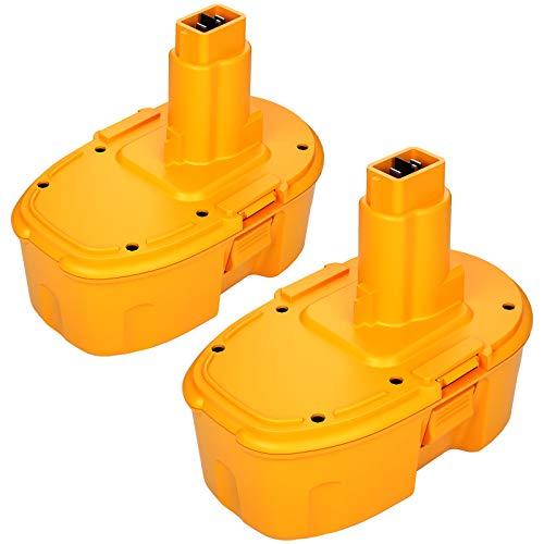DC9098 DC9099 Upgraded 4.0Ah Replacement for Dewalt 18v Battery XRP DE9098 DE9503 DW9095 DW9096 DW9098 DW9099 18 Volt Cordless Power Tools 2 Packs