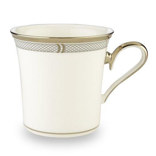 Lenox Solitaire Mug, white, platinum