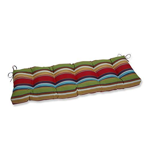 Pillow Perfect 653716 Outdoor/Indoor Westport Garden Tufted Bench/Swing Cushion, 60' x 18', Multicolored