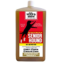 WOOF&BREW Senior Hound Joint Supplement for Dogs Soothes Stiff Joints in Older Dogs – One Month Supply