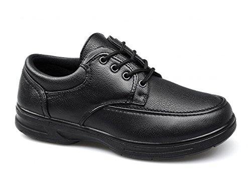 Dr Keller Barry para Hombre Zapatos de Cordones Comodidad Amplia Ajuste Negro, Color Negro, Talla 42 2/3