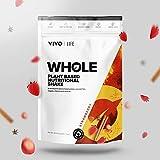 Vivo Life Whole - Batido nutricional vegano a base de vegetales - Proteínas, grasas esenciales,...