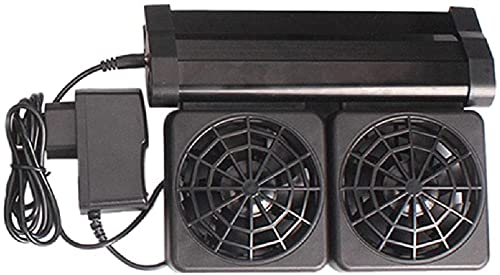 xqkj Ventilador de acuario ajustable para acuario, para acuarios de agua dulce y salada (2 ventiladores) 12 V