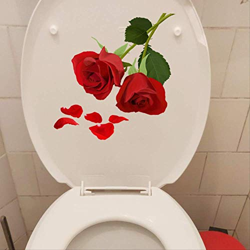 muurstickers,Mooie Rozen Home Room Decor Decals Muur Toiletbril Stickers a A