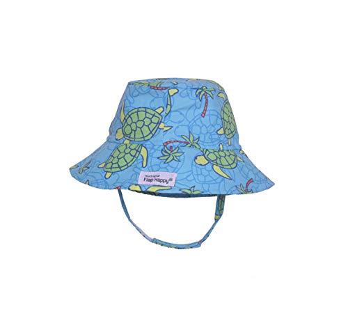Flap Happy Baby Bucket Hat, Turtle Island, Medium (6-12m)