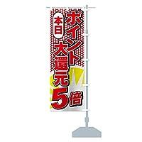 ポイント大還元 のぼり旗 サイズ選べます(ショート60x150cm 右チチ)