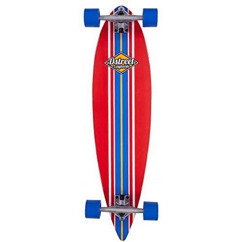 D-Street Pintail Ocean Skateboard, Unisex Adulto, Unisex - Adulto, DST-COM-2126, Rosso, 35 IN