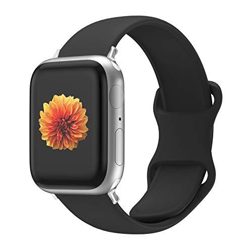 Desconocido Correa de Reloj Compatible con Apple Watch 44 mm 42 mm 40 mm 38 mm, Correa de Repuesto de Silicona Suave y Agradable para la Piel, Compatible con la Serie iWatch 5/4/3/2/1